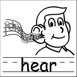 Clip art basic words. Hear clipart
