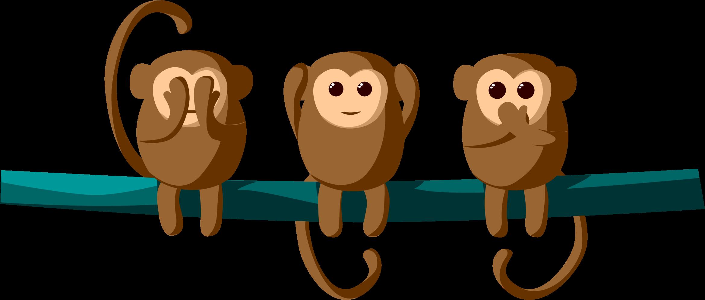 Hear speak monkeys big. See clipart animated