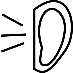 Clip art at clker. Hearing clipart