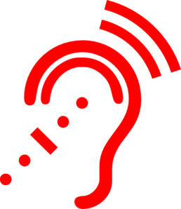 Hearing clipart. Red aid clip art