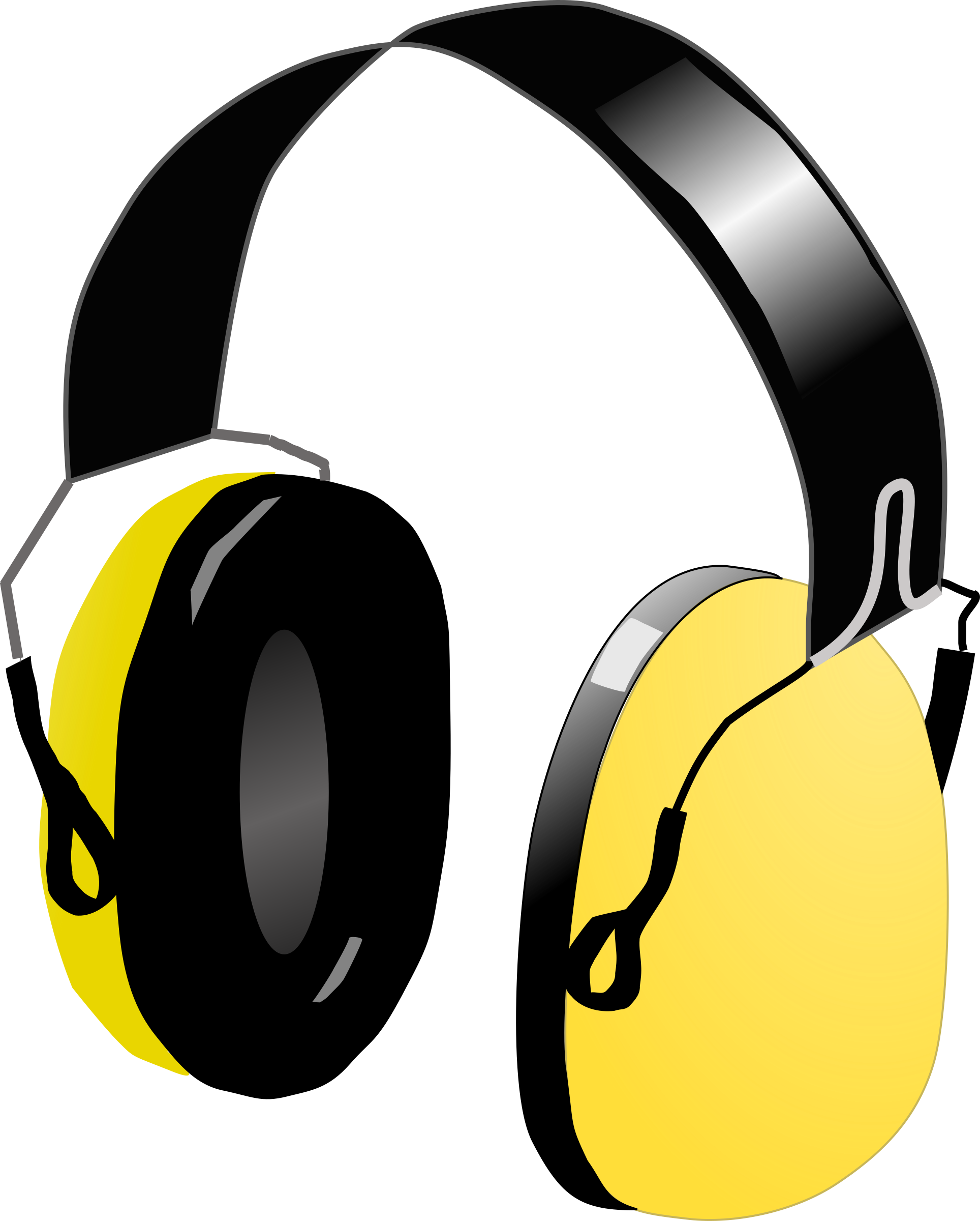 Headphones icons png free. Retro clipart headphone