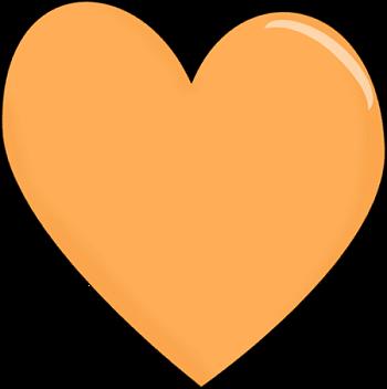 Heart clipart. Clip art images orange