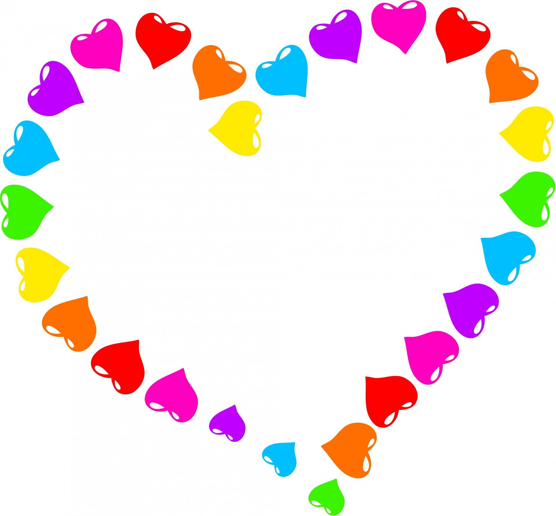 Heart clipart. Rainbow free stock photo