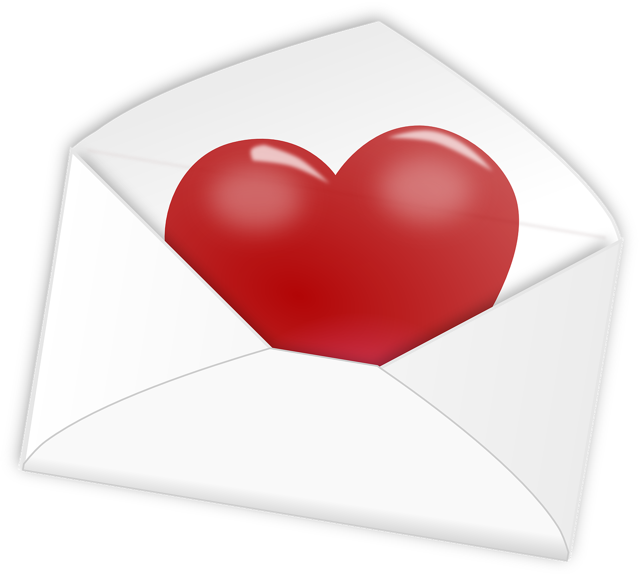 Heart letter love mail. Hearts clipart pulse