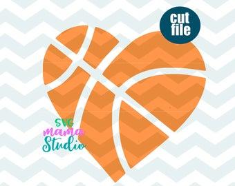 Heart svg etsy . Hearts clipart basketball