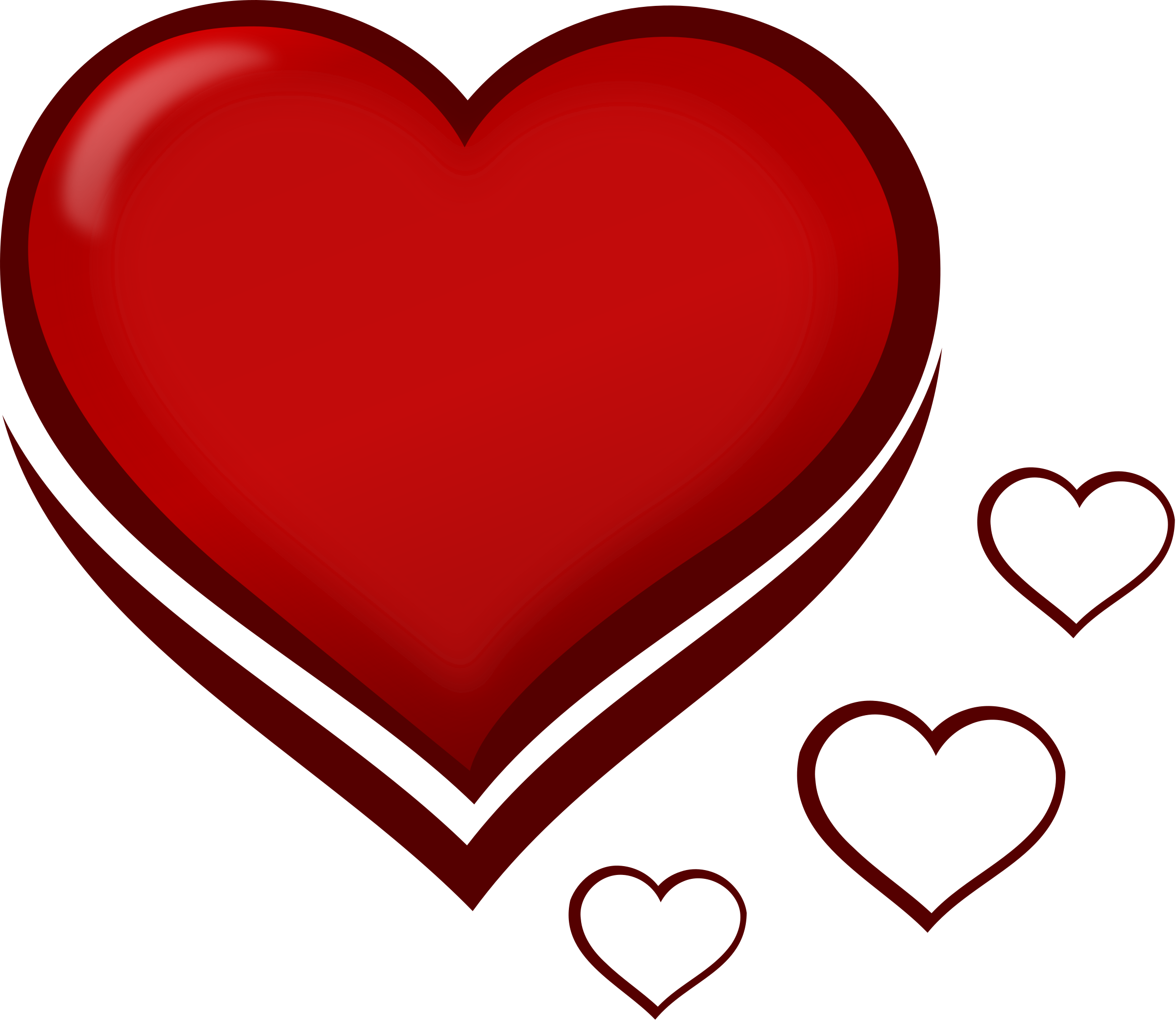 Red stylised heart with. Hearts clipart house