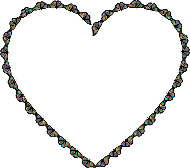 Heart clipart butterfly. Medium image png