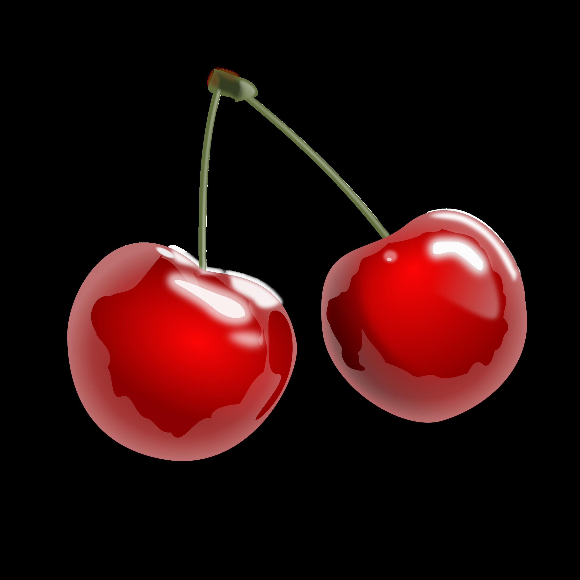 Cherries big image png. Heart clipart cherry