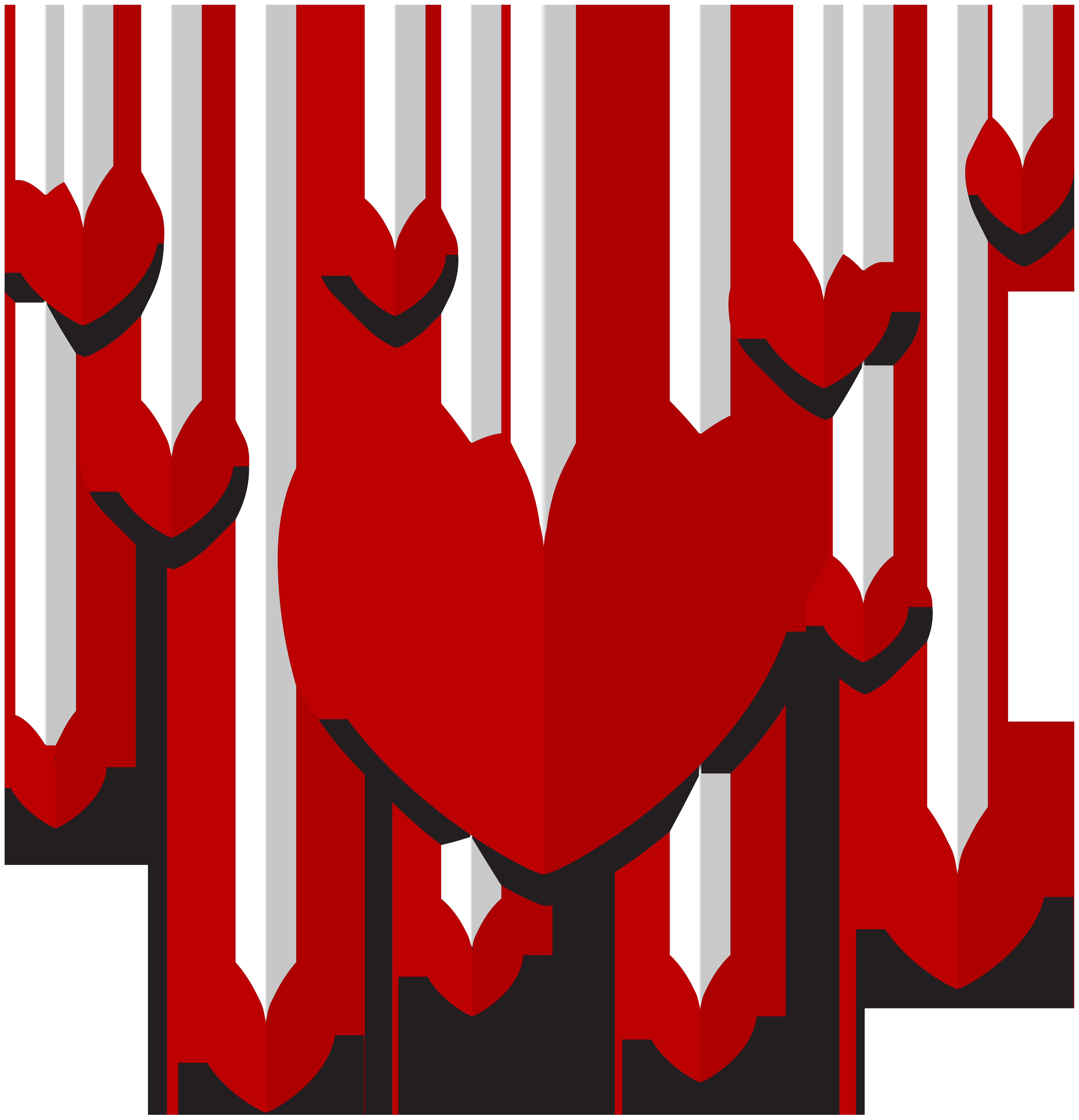 Hearts clipart decoration. Hanging decor png clip