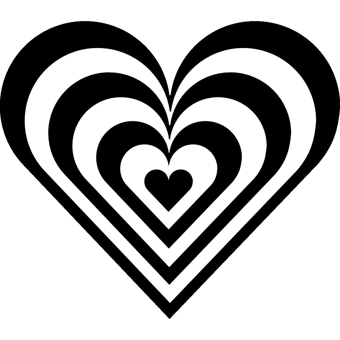 Heart black and white. Hearts clipart nurse
