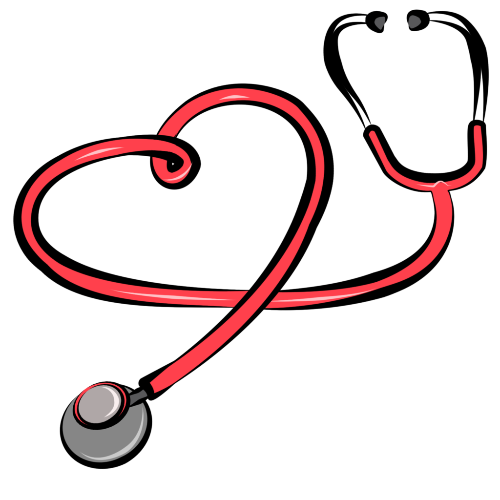 Heart clipart doctor.  collection of stethoscope
