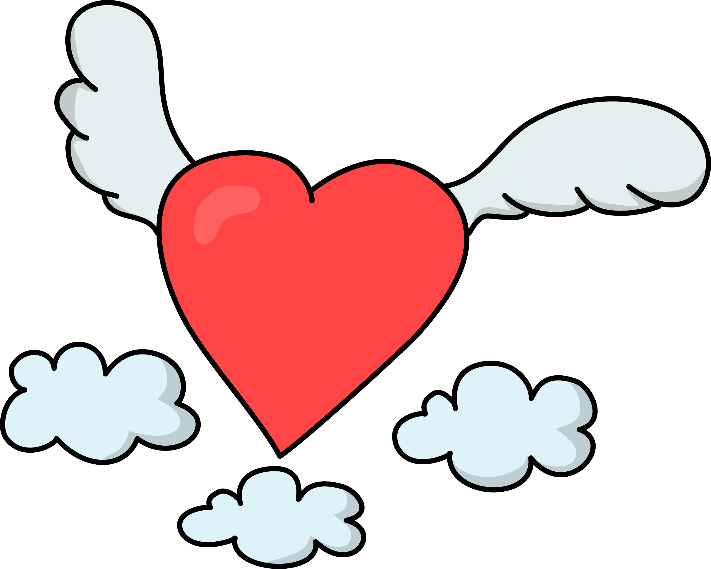 Flying clipart love. Free heart cliparts download