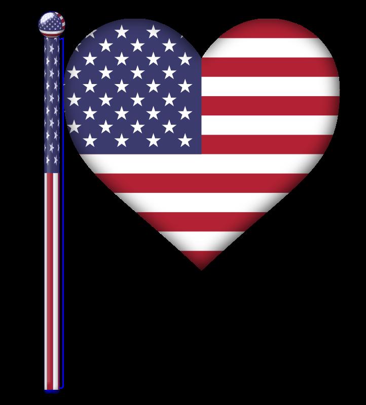 Heart clipart flag. Usa medium image png