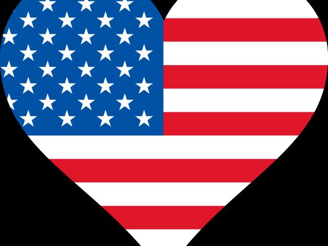 American clip art free. Heart clipart flag