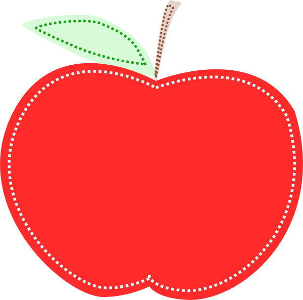 Red apple clip art. Heart clipart fruit