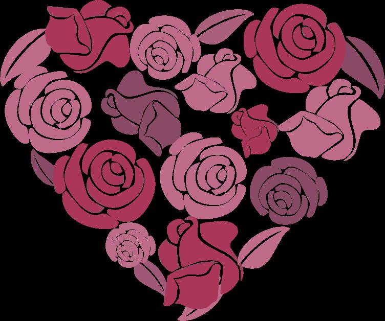 Roses medium image png. Heart clipart garden