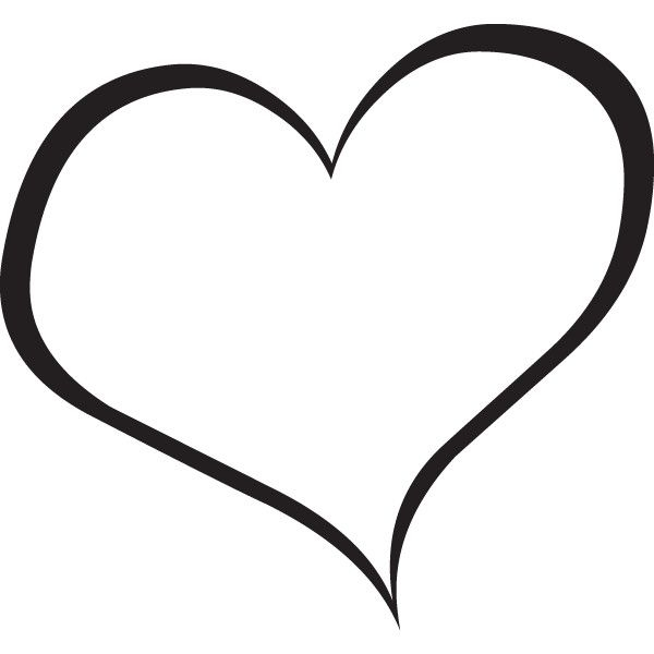 Double black and white. Heart clipart handwritten