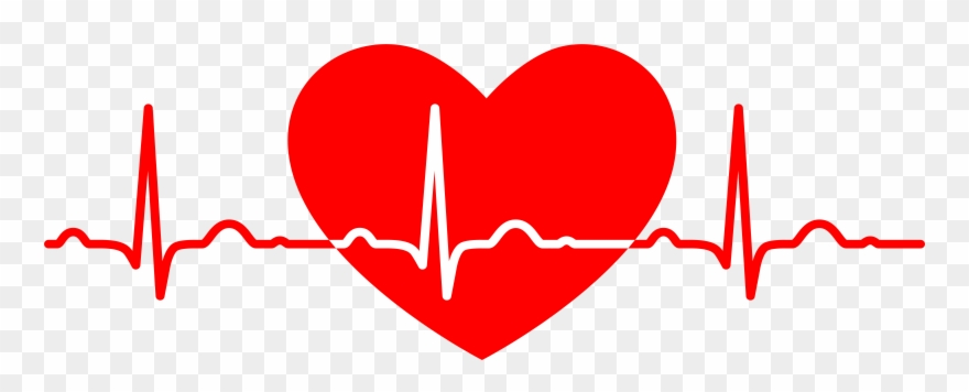Heartbeat clipart heart middle. Rate medicine png