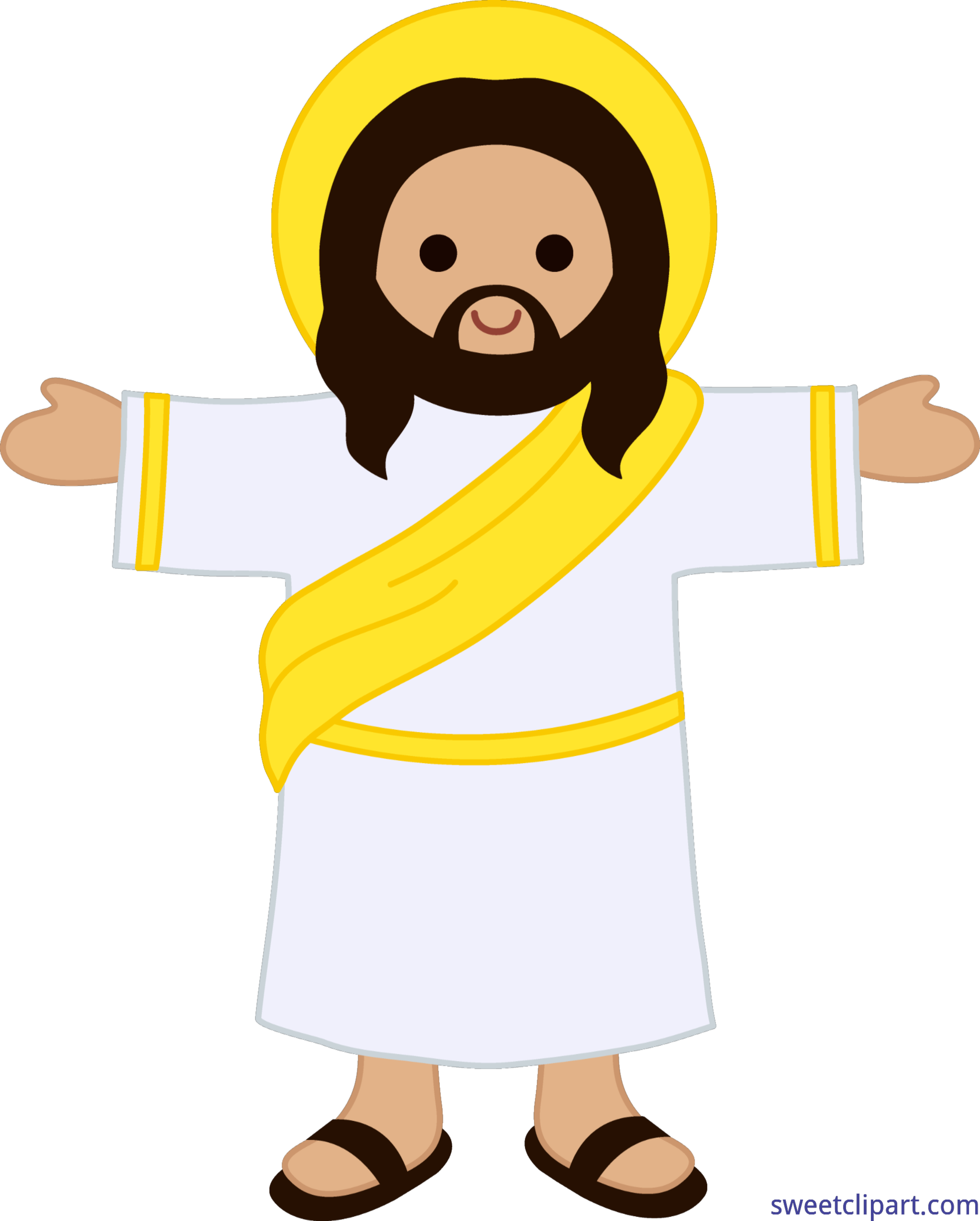 Jesus clipart lineart. Cute christ clip art