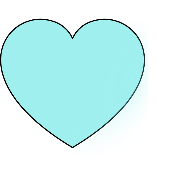 Hearts clipart light blue. Heart clip art at