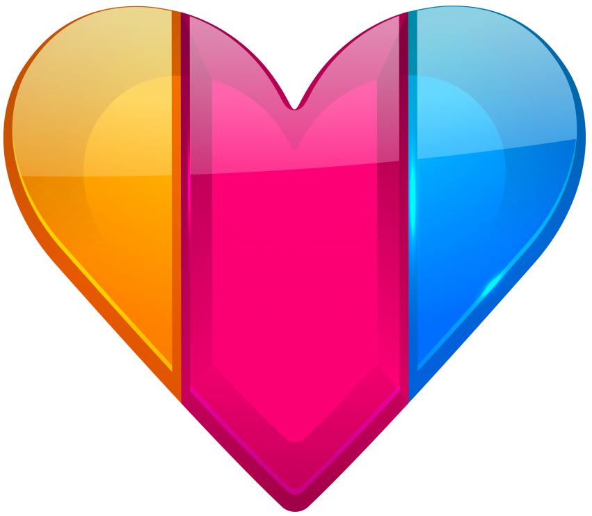 Colorful png free images. Heart clipart lollipop