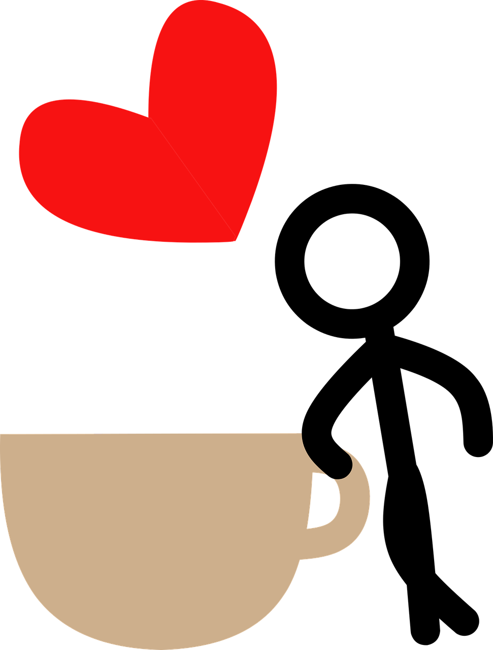 Heart clipart man. Coffee love stick drink