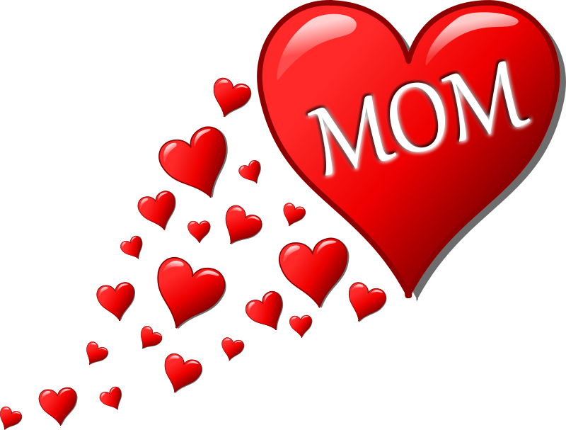 Free mother s with. Heart clipart mothers day