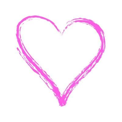 Images of pretty pink. Hearts clipart paint