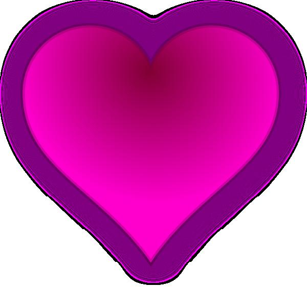 Heart clipart pink. Clip art at clker
