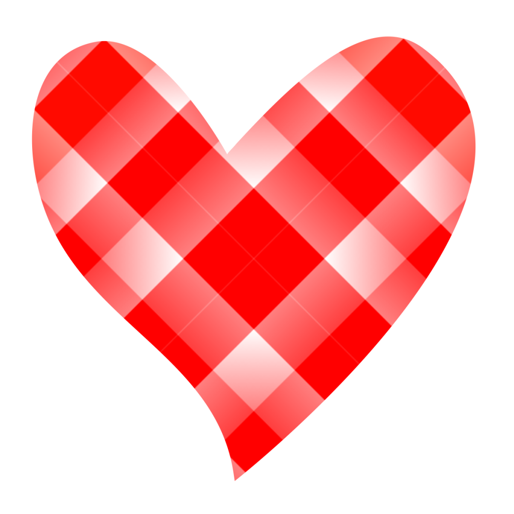 collection of patchwork. Heart clipart plaid
