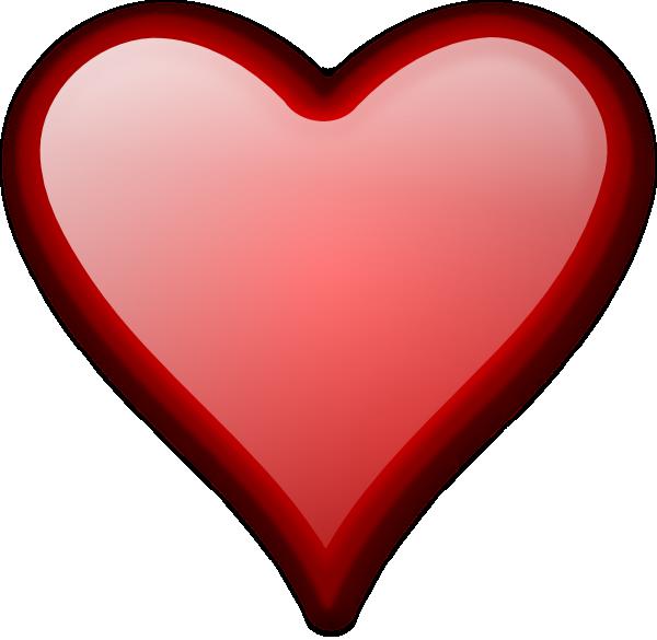 Shiny red clip art. Heart clipart science