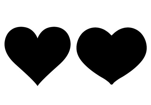 Heart clipart silhouette. Loving vector free download