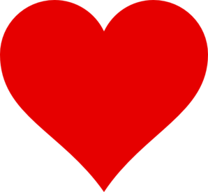 Hearts clipart simple. Red heart clip art