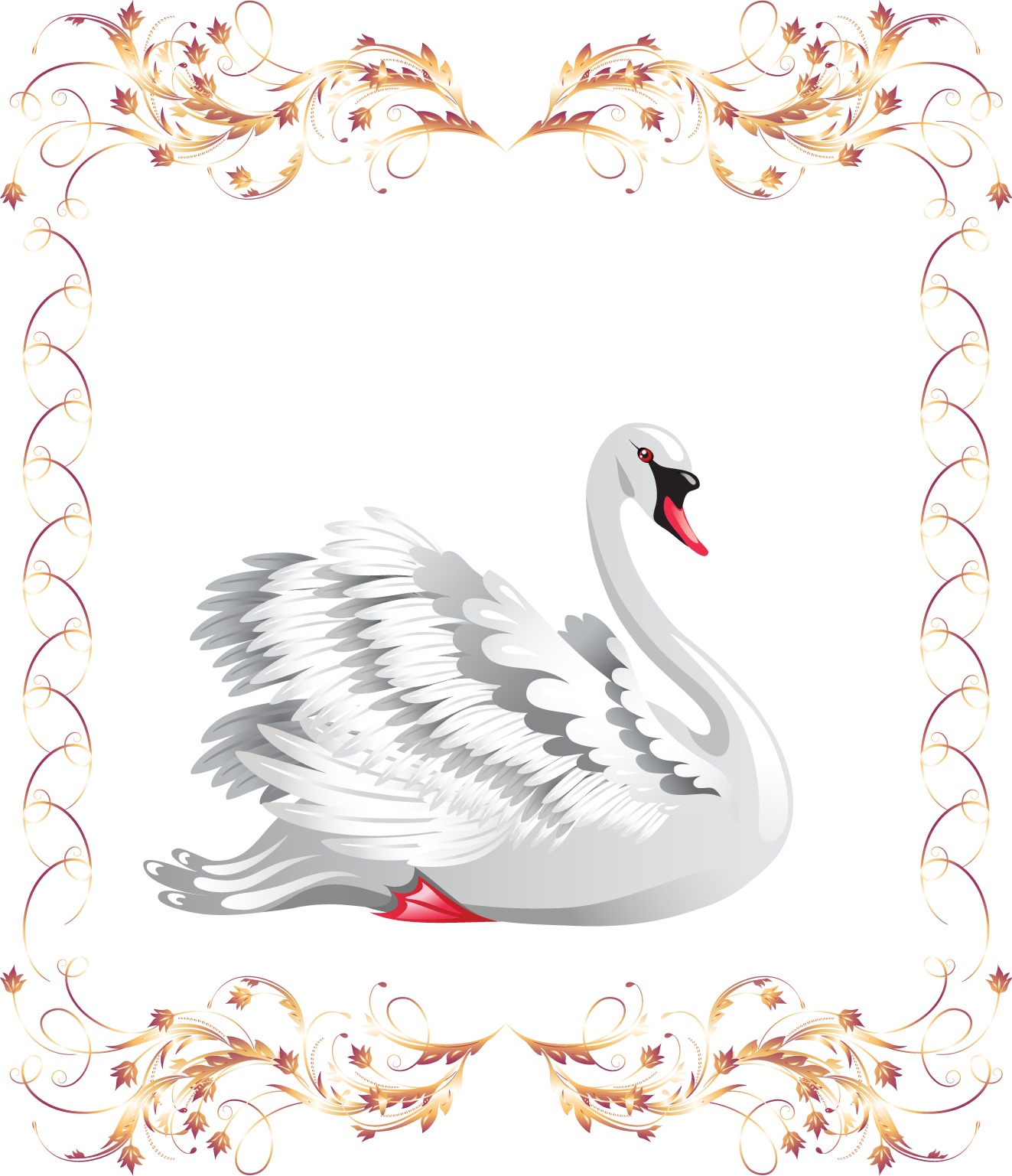 Wing clipart swan. Black photography clip art