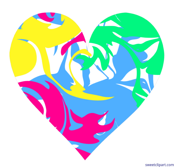 Sweet clip art page. Heart clipart swirl
