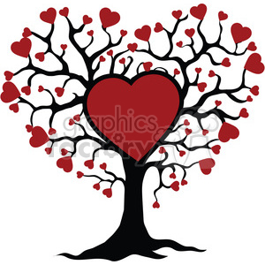 Tree clipart heart. Of life and love