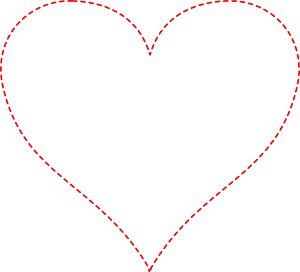 Stitched . Heart clipart vector