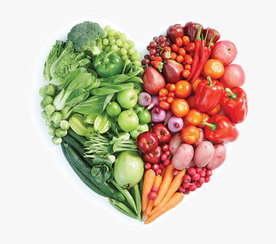 Eating guide for seniors. Heart clipart vegetable