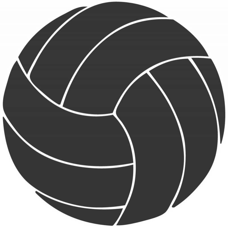 Heart clipart volleyball. Black and white free