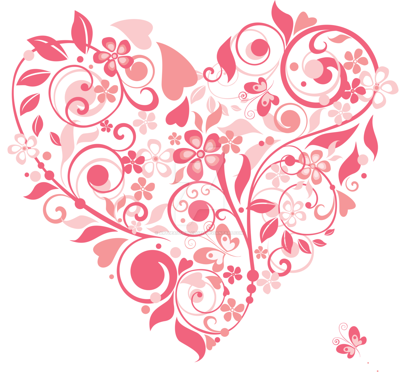 Hearts clipart watercolor. Pink heart with wings