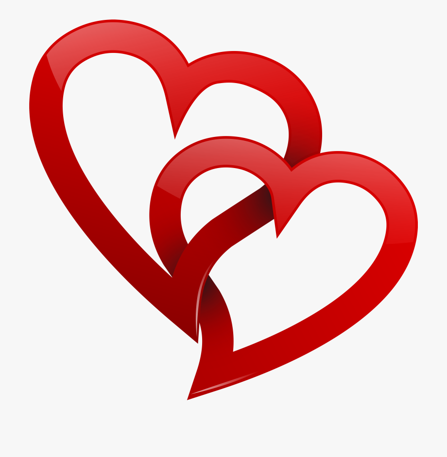 Heart clipart wedding. Two red hearts png
