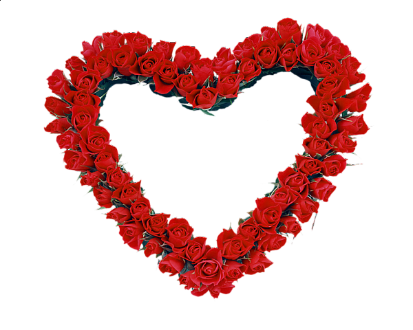 Image red roses transparent. Heart frame png