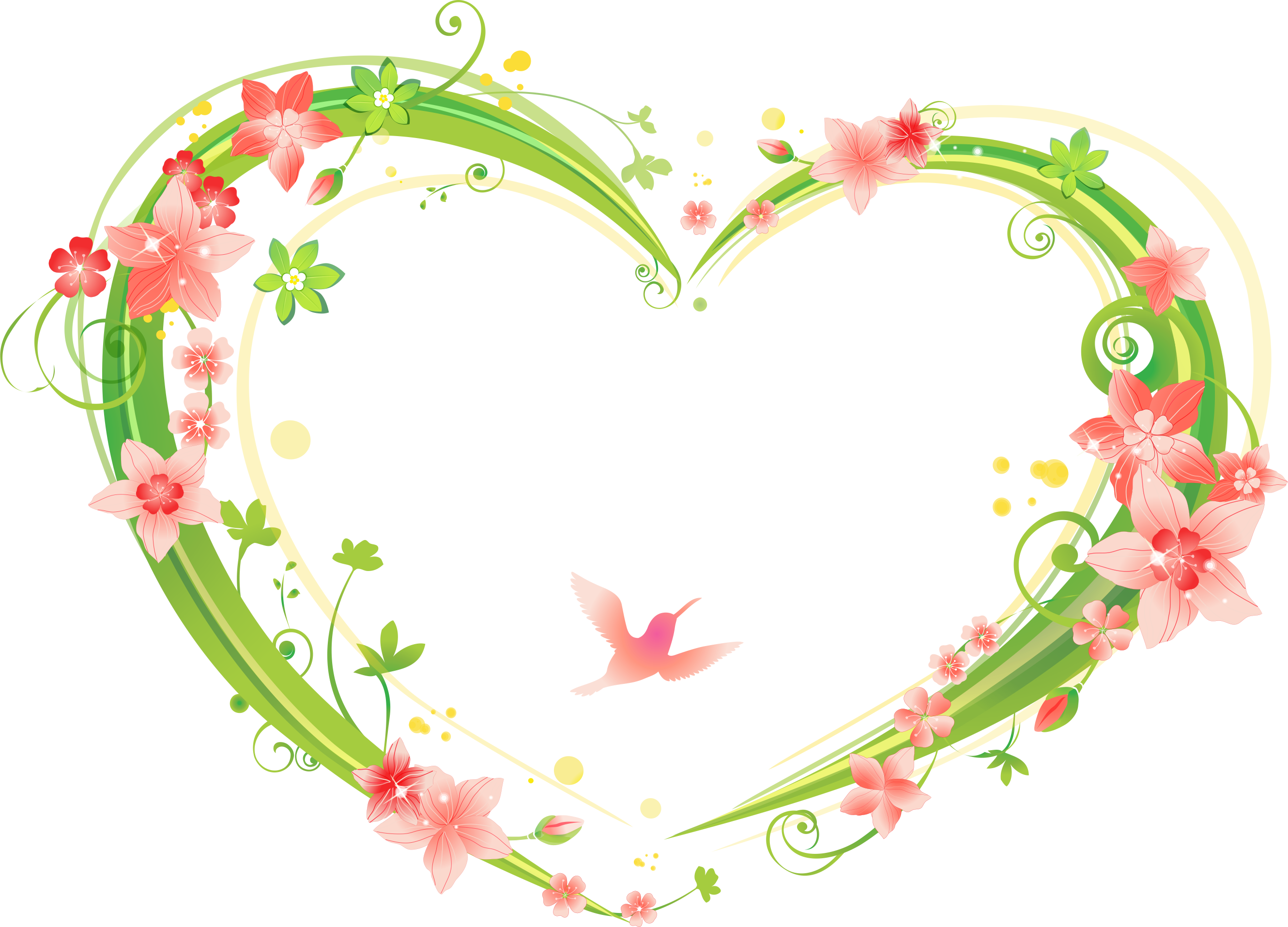 Shaped flowers transprent free. Heart frame png