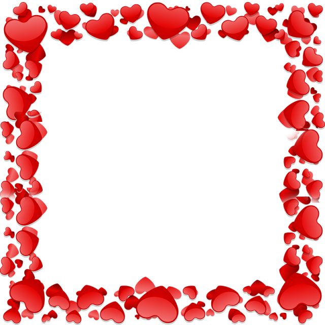 Heart frame png. Beautiful vector and psd