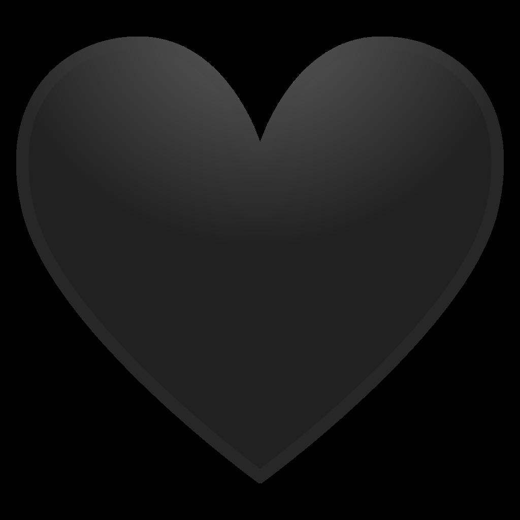 Black noto emoji people. Heart icon png