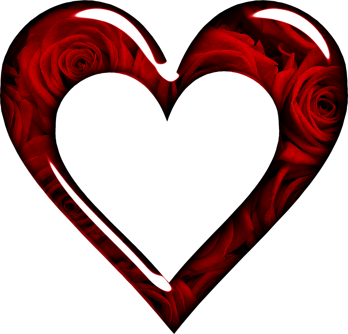Rose frame gallery yopriceville. Heart png images with transparent background