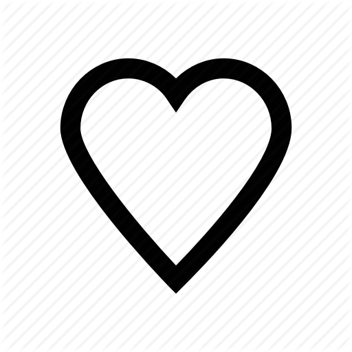 Heart vector png. Apple watch bold line