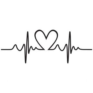 collection of heart. Heartbeat clipart