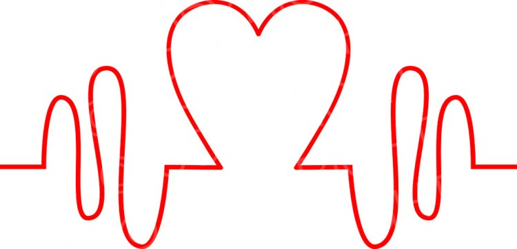 Heartbeat clipart. Health pulse monitor icon