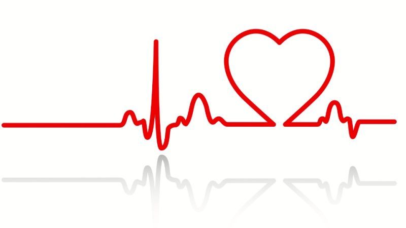 Heartbeat clipart. Line black and white